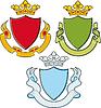 Waffenschild, Farbbänder, Crown