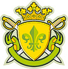Schild, Farbbänder, Krone, Heraldik Fleur-de-Lys