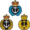 Vector clipart: Navy cap badge.Set
