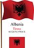 Albanien wellig Flagge und Koordinaten