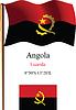 Angola wellig Flagge und Koordinaten