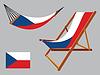 Tschechien Hängematte und Liegestuhl-Set