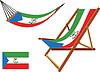 Äquatorialguinea Hängematte und Liegestuhl-Set