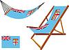 Fidschi-Hängematte und Liegestuhl-Set