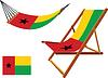 Guinea-Bissau Hängematte und Liegestuhl-Set