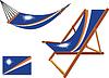 Marshall-Inseln Hängematte und Liegestuhl-Set