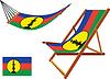 Neukaledonien Hängematte und Liegestuhl-Set