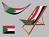 palästina Hängematte und Liegestuhl-Set