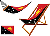 Papua-Neuguinea Hängematte und Liegestuhl-Set