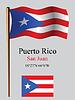 puerto rico wellig Flagge und Koordinaten