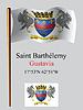 Saint Barthelemy wellig Flagge und Koordinaten
