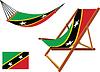 St. Kitts und Nevis Hängematte und Liegestuhl-Set