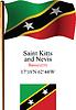St. Kitts und Nevis wellig Flagge und Koordinaten