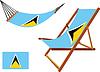 St. Lucia Hängematte und Liegestuhl-Set