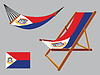 ID 4150518 | Saint Martin hamak i krzesło zestaw | Klipart wektorowy | KLIPARTO