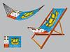 St. Pierre und Miquelon Hängematte und Liegestuhl-Set