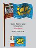 St. Pierre und Miquelon wellig Flagge und Koordinaten