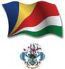 Seychellen strukturierte wellig Flagge