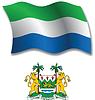 Sierra Leone strukturierten wellig Flagge