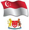Singapur strukturierten wellig Flagge