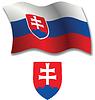 slowakei strukturierten wellig Flagge