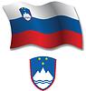 Slowenien strukturierten wellig Flagge