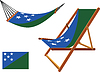 Salomon-Inseln Hängematte und Liegestuhl-Set