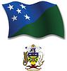 Salomonen strukturierten wellig Flagge