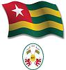 togo strukturierten wellig Flagge
