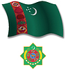 Turkmenistan strukturierten wellig Flagge