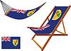 Turks und Caicos Inseln Hängematte und Liegestuhl