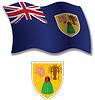 Turks und Caicos Inseln strukturierten wellig Flagge