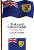 Turks und Caicos Inseln wellig Flagge und Koordinaten