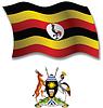 Uganda strukturierten wellig Flagge