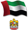 Vereinigte Arabische Emirate strukturierten wellig Flagge