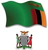 Sambia strukturierten wellig Flagge