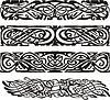 Knotenentwürfe im keltischen Stil mit Vögeln