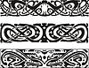 keltischen Knoten Designs mit Schlangen und Drachen