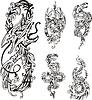stilisierten zweiköpfigen Drachen