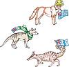 Australische Tiere - Dingo, Beutelwolf, numbat