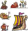 Sonstiges Wikinger Cartoons