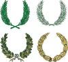 Set von vier Wappen Kränze