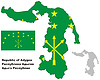 Übersichtskarte von Adygea mit Flagge