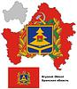 Übersichtskarte von Brjansk mit Flagge