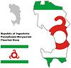 Übersichtskarte mit Flagge von Inguschetien