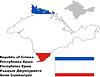 Übersichtskarte der Krim mit Flagge