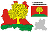 Übersichtskarte der Oblast Lipezk mit Flagge