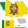 Übersichtskarte der Oblast Pensa mit Fahne