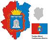 Übersichtskarte der Oblast Tambow mit Fahne