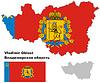 Übersichtskarte von Vladimir Oblast mit Fahne